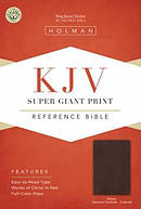 Kjv Super Giant Print Reference Bible, Brown Genuine Cowhide Indexed