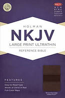 NKJV Large Print Ultrathin Reference Bible, Brown and Chocolate Imitation Leather