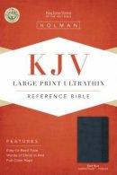 Kjv Lp Ultrathin Ref Bible Slate Blue Lt
