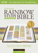 NIV Rainbow Study Bible Saddle Brown LeatherTouch