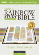 NIV Rainbow Study Bible Purple LeatherTouch