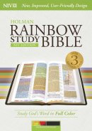 NIV Rainbow Study Bible Kaleidoscope Black LeatherTouch