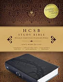 HCSB Study Bible, Charcoal Leathertouch