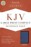 KJV Large Print Compact Bible, Cobalt Blue, Leathertouch