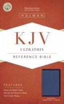 KJV Ultrathin Reference Bible, Cobalt Blue LeatherTouch, Indexed