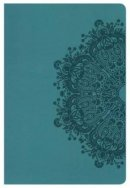 Hcsb Large Print Personal Size Bible, Teal Leathertouch