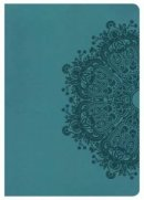 Kjv Super Giant Print Reference Bible, Teal Leathertouch, In