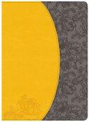Kjv Study Bible, Canary/Slate Grey, Leathertouch