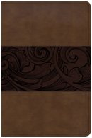 CSB Study Bible, Personal Size Edition, Mahogany LeatherTouc