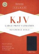 KJV Large Print Ultrathin Reference Bible, Black Genuine Lea