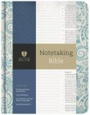 HCSB Notetaking Bible, Blue Floral