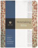 HCSB Notetaking Bible, Red Floral Hardcover