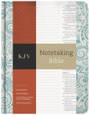 KJV Notetaking Bible, Blue Floral