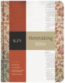 KJV Notetaking Bible, Red Floral