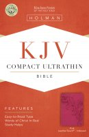 KJV Compact Ultrathin Bible, Pink Leathertouch, Indexed