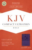 KJV  Compact Ultrathin Reference Bible, Purple Leathertouch,