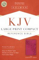 KJV  Large Print Compact Reference Bible, Pink Leathertouch,