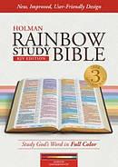 KJV Rainbow Study Bible Maroon Leathertouch