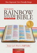 KJV Rainbow Study Bible Maroon Leathertouch Indexed