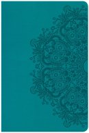 CSB Large Print Personal Size Reference Bible, Teal Leathert
