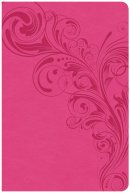 CSB Large Print Personal Size Reference Bible, Pink Leathert