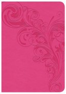 CSB Large Print Compact Reference Bible, Pink Leathertouch