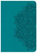 CSB Large Print Compact Reference Bible, Teal Leathertouch