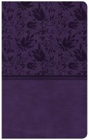 CSB Compact Ultrathin Reference Bible, Purple Leathertouch,