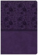 CSB Super Giant Print Reference Bible, Purple Leathertouch,