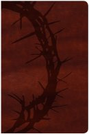 KJV Large Print Personal Size, Brown Crown of Thorns Leather