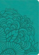 RVR 1960 Biblia Letra Gigante aqua, símil piel con índice