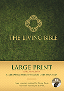 Living Bible Large Print Red Letter Edition, Indexed