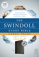 The NLT Swindoll Study Bible, Large Print, Black, Indexed