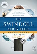 NLT Swindoll Study Bible, Large Print, Black, Indexed, The