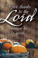 Give Thanks Thanksgiving Bulletin (Pkg of 50)