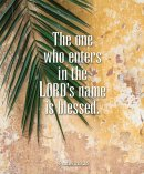 The One Who Enters Palm Sunday Bulletin, Large (Pkg of 50)