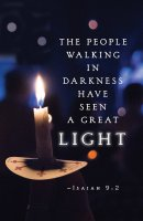 The People Candlelighting Christmas Bulletin (Pkg of 50)