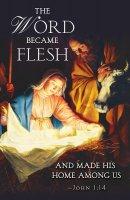 The Word Nativity Christmas Bulletin (Pkg of 50)