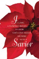Savior Poinsettia Christmas Bulletin (Pkg of 50)