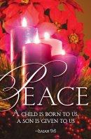 Peace Advent Candle Sunday 4 Bulletin (Pkg of 50)