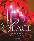 Peace Advent Candle Sunday 4 Bulletin, Large (Pkg of 50)