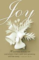 Joy Paper Art Advent Bulletin (Pkg of 50)