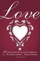 Love Paper Art Advent Bulletin (Pkg of 50)