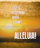 Alleluia! Easter Images Bulletin, Large (Pkg of 50)