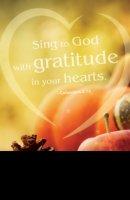Gratitude Thanksgiving Bulletin (Pkg of 50)
