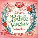 Illustrated Bible Verses Wall Calendar 2019