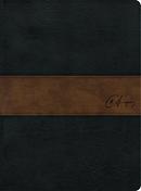 RVR 1960 Biblia de estudio Spurgeon, negro/marrón símil piel