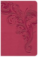 KJV Large Print Compact Reference Bible, Pink LeatherTouch