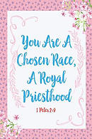You Are a Chosen Race, a Royal Priesthood: Bible Verse Quote Cover Composition Notebook Portable