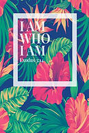 I Am Who I Am: Bible Verse Quote Cover Composition Notebook Portable